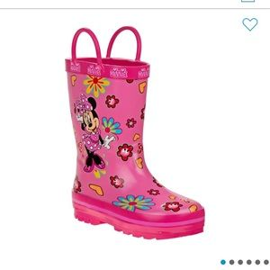 NEW Josmo Minnie Mouse Youth Rain Boots